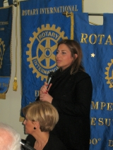 la Presidente del Rotaract Pompei, Alessandra Afeltra